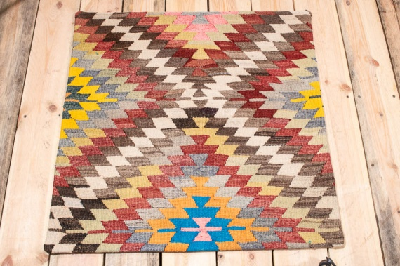 KC1587 Turkish Kilim Cushion Cover 70x70cm