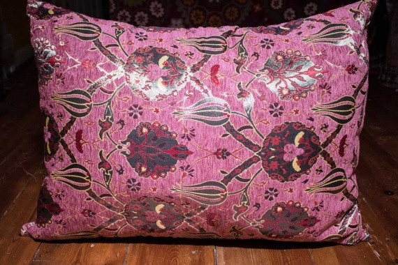 Large Dusky Pink Ottoman Turkish Floor Cushion Cover 68x94cm