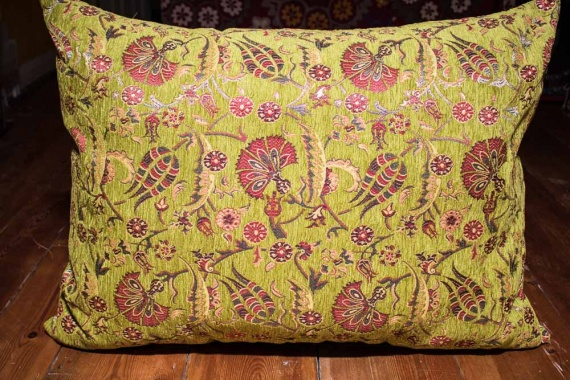 Large Lime Ottoman Turkish Floor Cushion Cover 68x94cm