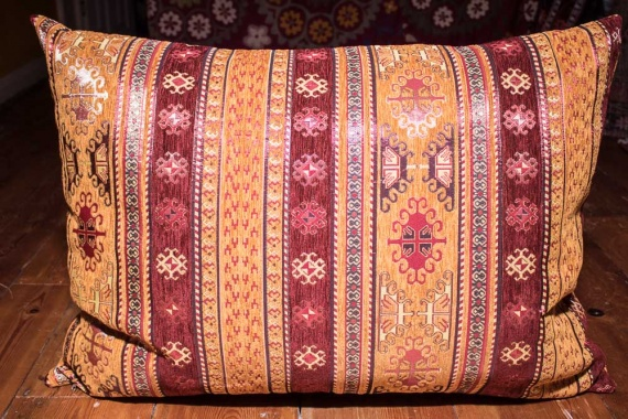 Large Sand Stripe Ottoman Turkish Floor Cushion Cover 68x94cm