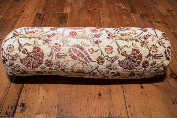 Medium Cream Ottoman Turkish Bolster Cushion Cover 20x70cm