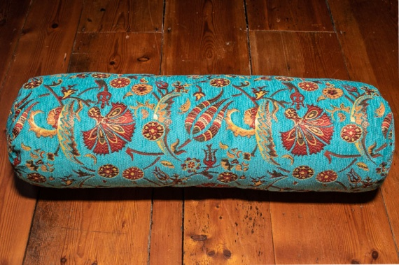 Medium Turquoise Ottoman Turkish Bolster Cushion Cover 20x70cm