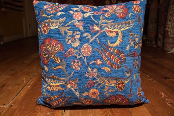 Small Blue Ottoman Turkish Cushion Cover 44x44cm