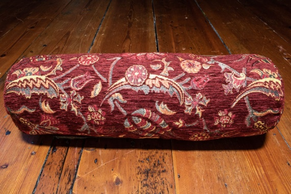 Small Burgundy Ottoman Turkish Bolster Cushion Cover 16x45cm