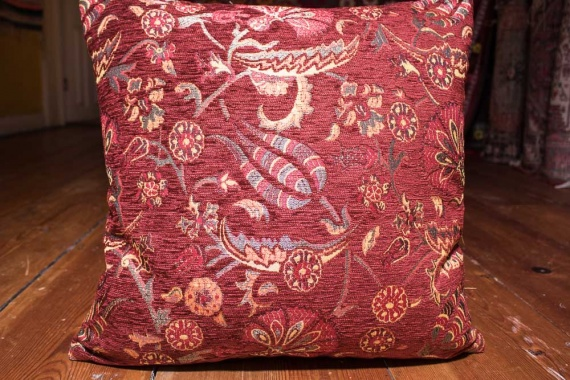Small Burgundy Ottoman Turkish Cushion Cover 44x44cm