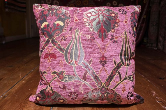 Small Dusky Pink Ottoman Turkish Cushion Cover 44x44cm