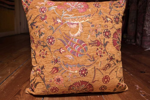 Small Sand Ottoman Turkish Cushion Cover 44x44cm