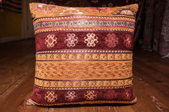 Small Sand Stripe Ottoman Turkish Cushion Cover 44x44cm