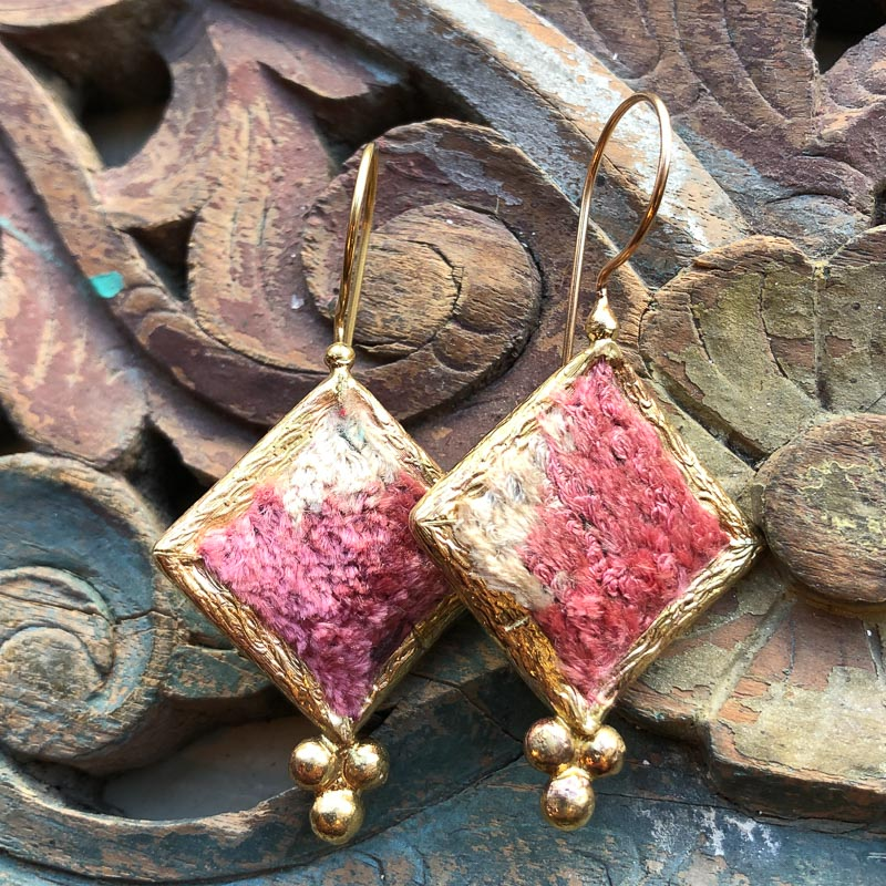 (AE191) Ottoman Design Earrings 60mm x 30mm
