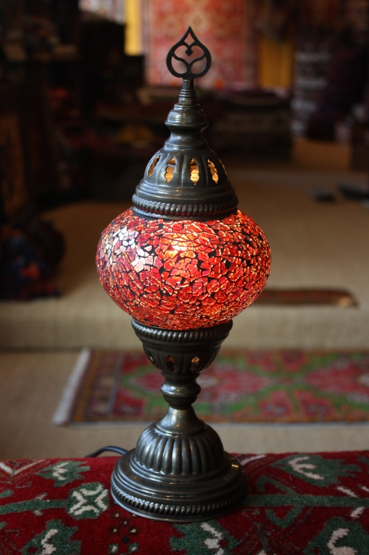 Red Turkish Mosaic Table Lamp