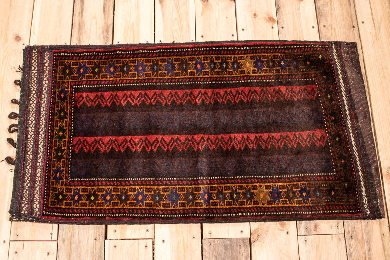 10467 Afghan Baluch Carpet Floor Cushion 56x104cm (1.10 x 3.5ft)