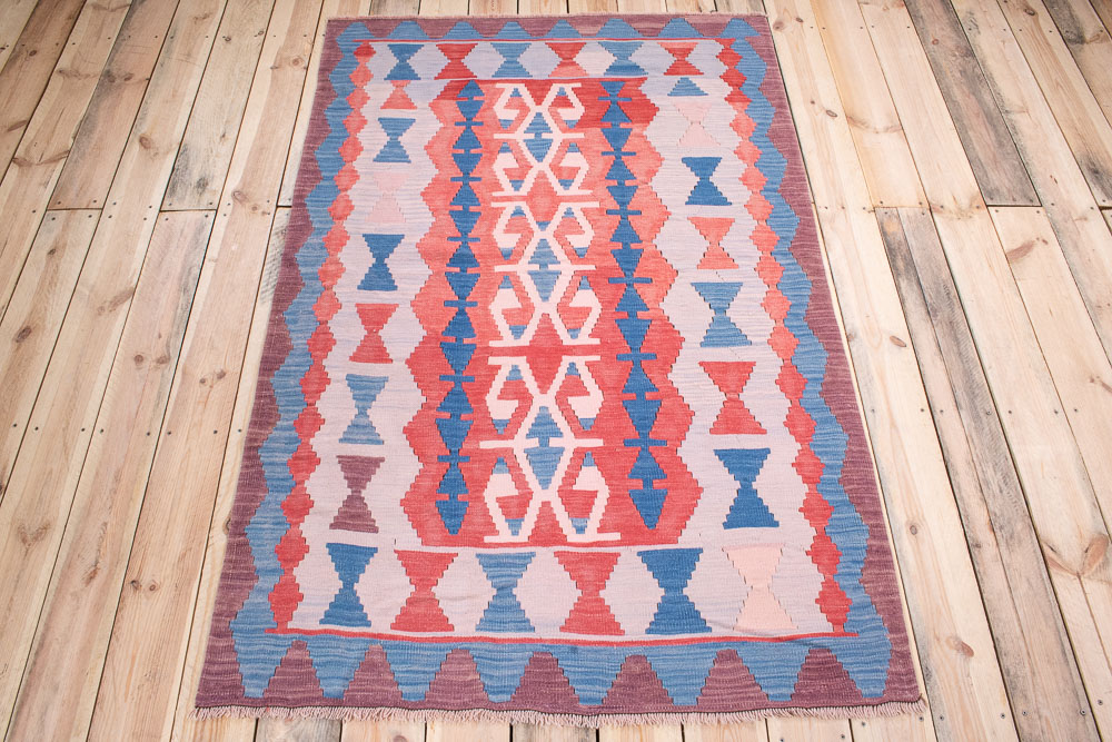10766 Vintage Turkish Usak Kilim Rug 115x184cm (3.9 x 6.0½ft)