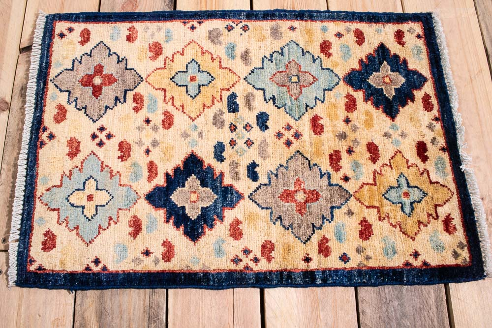 10885 Fine Afghan Ziegler Small Rug 45x66cm (1.5½ x 2.2ft)
