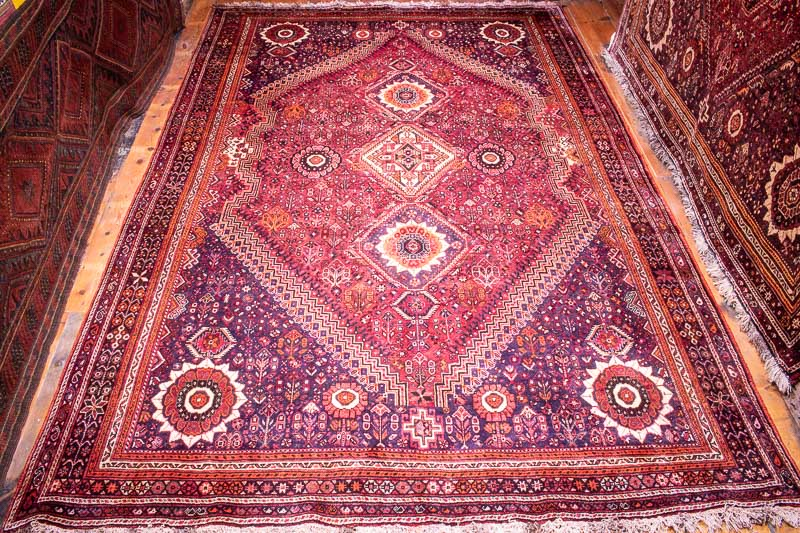 4878 Persian Hasan Abad Qashqai Carpet 214x315cm (7 x 10.4ft)