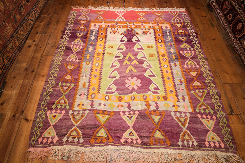 5170 Turkish Ordu Kilim 160x192cm (5.3 x 6.3½ft)