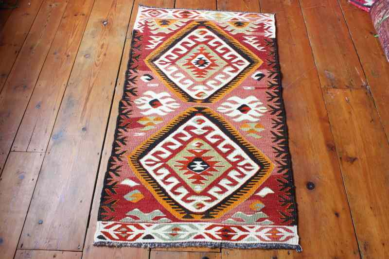 7790 Turkish Mut Kilim Rug 71x126cm (2.0½ x 4.1½ft)