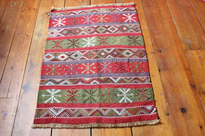 7799 Turkish Sivas Kilim Rug 73x109cm (2.4½ x 3.7ft)