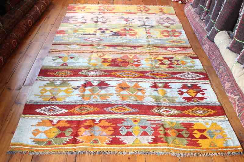 7964 Turkish Flatweave Cal Kilim 159x244cm (5.2½ x 8ft)