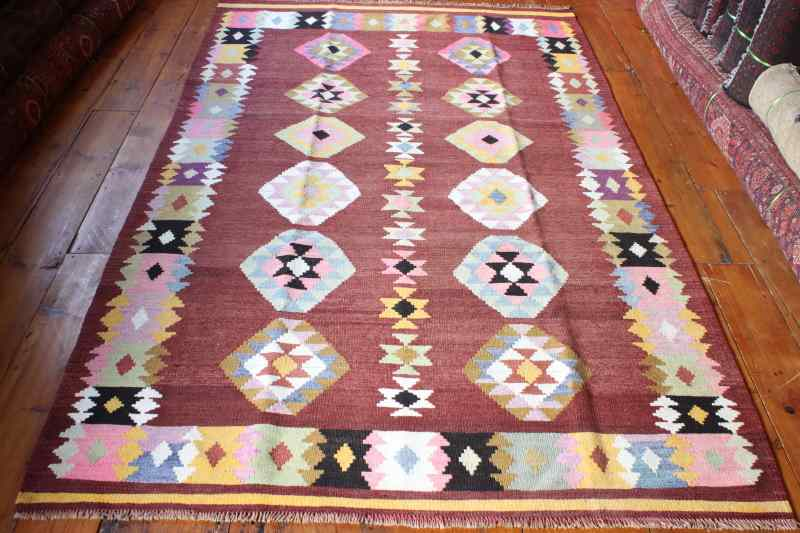 7966 Turkish Milas Kilim Rug 142x238cm (4.8 x 7.9½ft)