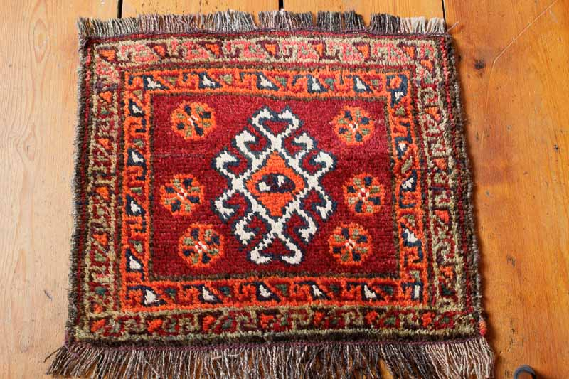 8196 Semi Antique Persian Small Rug (Bag Face) 44x53cm (1.5 x 1.9ft)