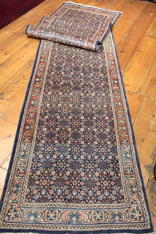 8486 Oriental Persian Mahal Carpet Runner 88x429cm (2.10x14.1ft)