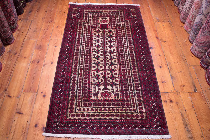 8922 Baluchi Oriental Rug 99x185cm 3 X 6 0½ft
