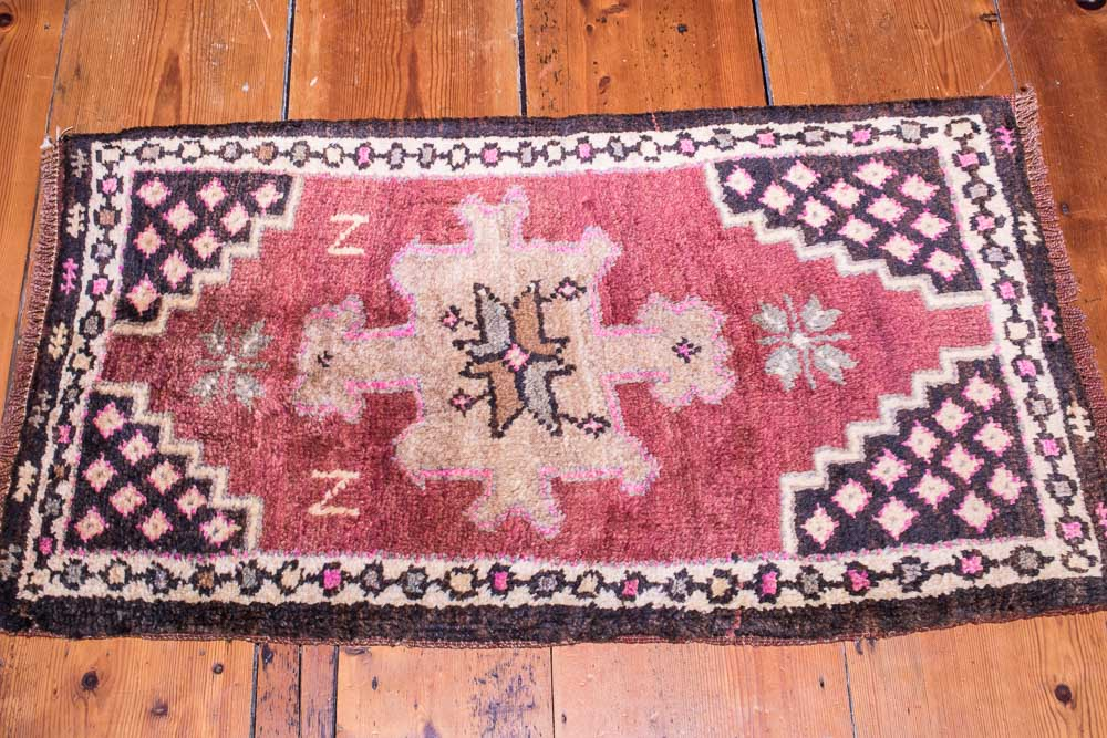 Village Turkish Wool Small Rug Wool On Wool