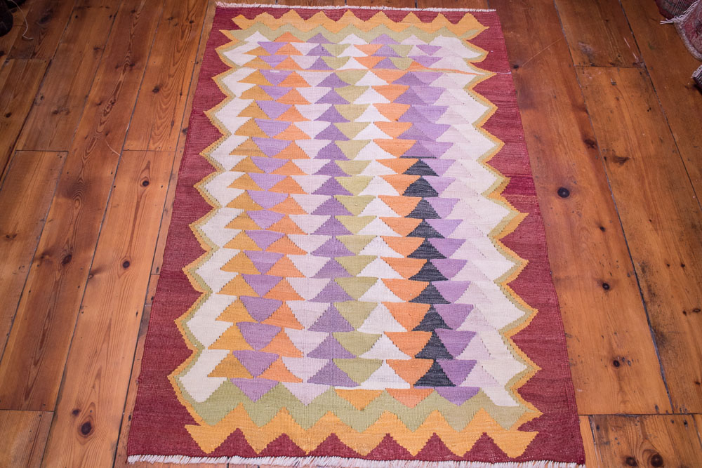 9073 Turkish Kilim Rug - Milas 91x144cm (3 x 4.8½ft)