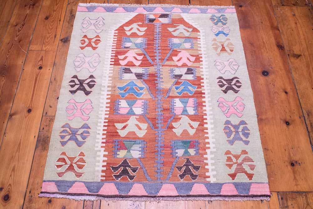 9098 Vintage Turkish Kilim Rug - Esme 86x108cm (2.10 x 3.6½ft)