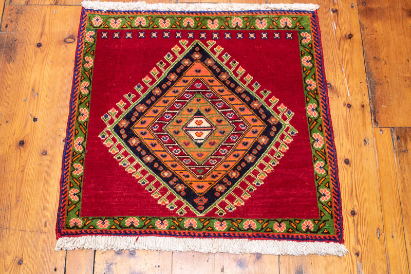 9546 Persian Qashqai Small Rug 59x62cm (1.11 x 2ft)