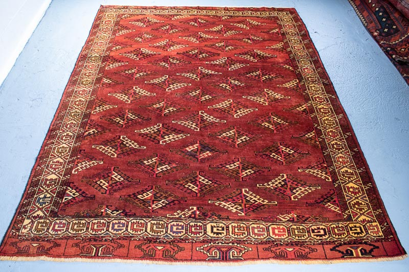 9627 Persian Turkoman Carpet 216x296cm (7.1 x 9.8½ft)