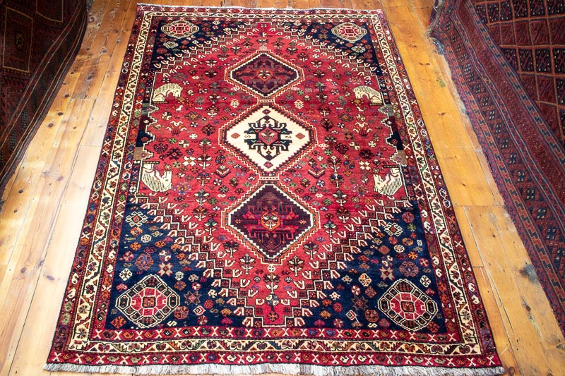 9631 Persian Tribal Qashqai Rug 171x248cm (5.7 x 8.1½ft)
