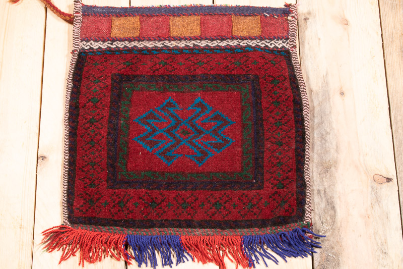 CC1329 Afghan Baluch Carpet Cushion Cover 36x37cm (1.2 x 1.2½ft)