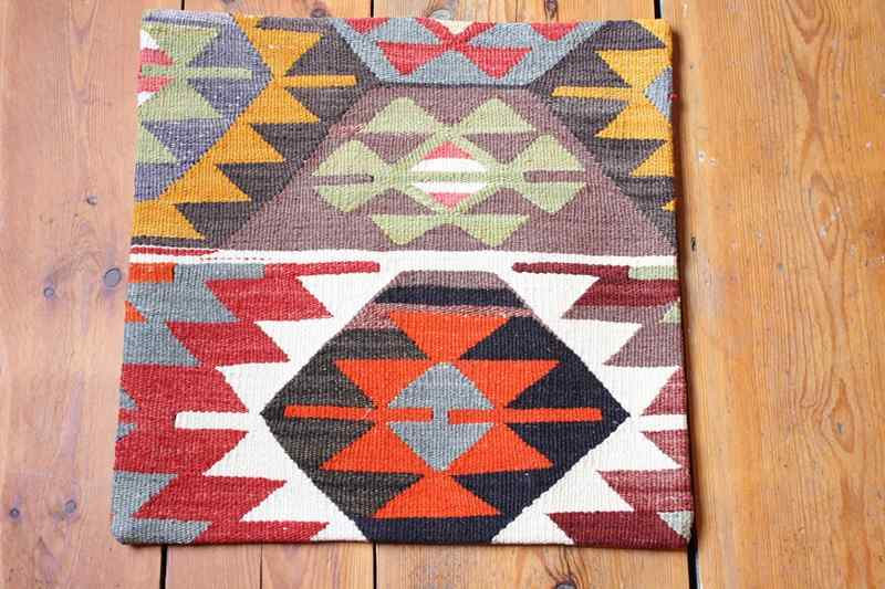 KC1270 Turkish Kilim Cushion Cover 40x40cm