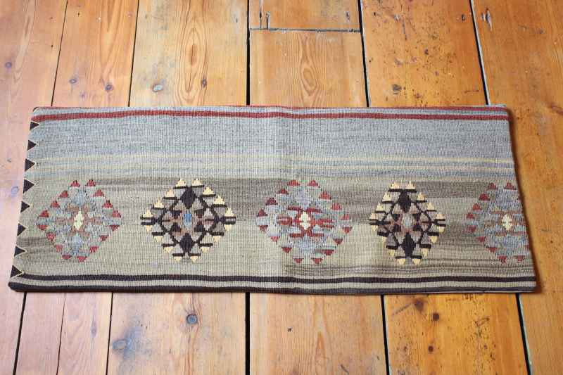 KC1323 Turkish Kilim Bolster Cushion Cover 35x88cm