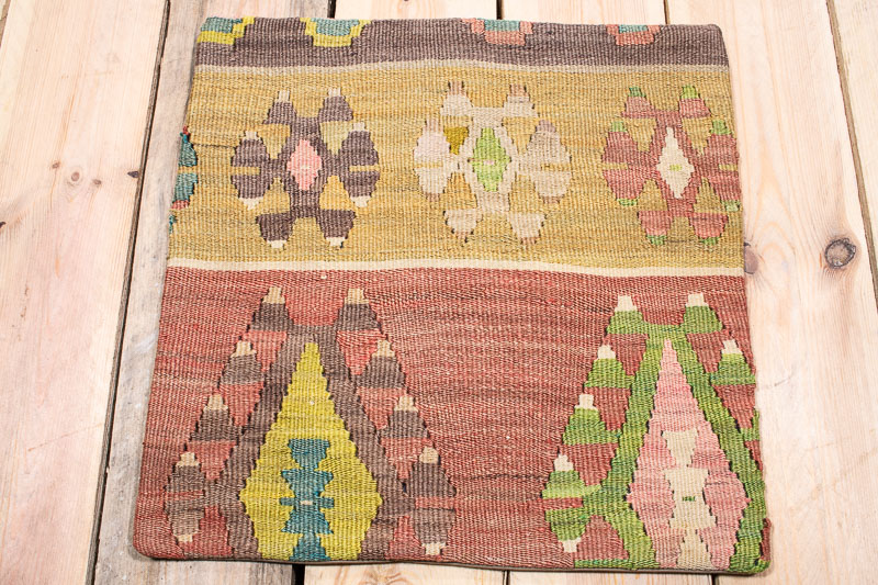 KC1628 Turkish Kilim Cushion Cover 40x40cm