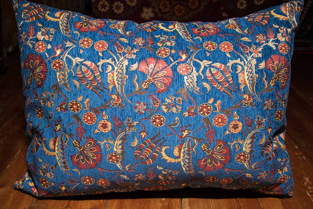 Super Large Blue Ottoman Turkish Floor Cushion Cover 68X94Cm Machost Co Dining Chair Design Ideas Machostcouk