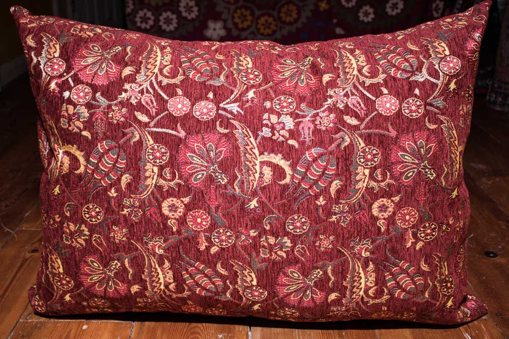 Large Burgundy Ottoman Turkish Floor Cushion Cover 68x94cm