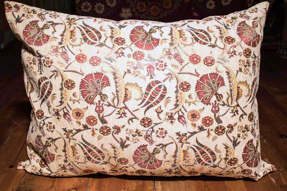 Large Cream Ottoman Turkish Floor Cushion Cover 68x94cm