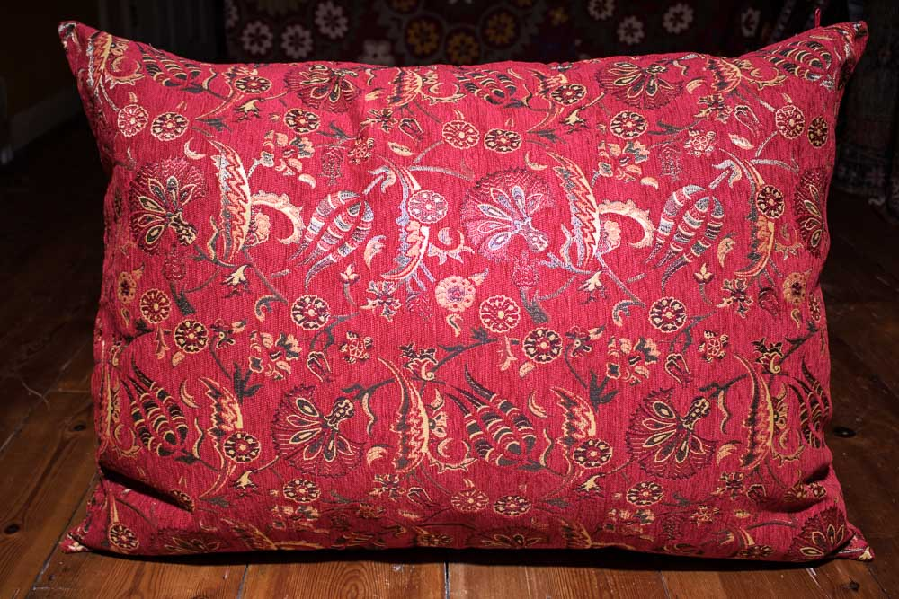 Large Red Ottoman Turkish Floor Cushion Cover 66x108cm
