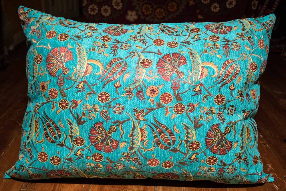 Large Turquoise Ottoman Turkish Floor Cushion Cover 66x108cm