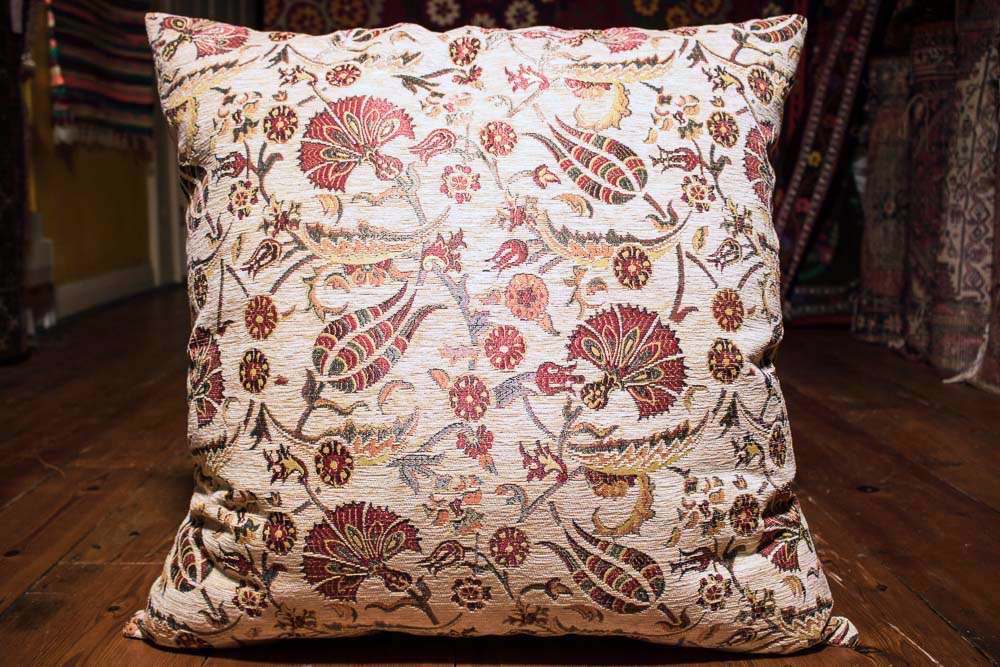 Medium Cream Ottoman Turkish Cushion Cover 68x68cm