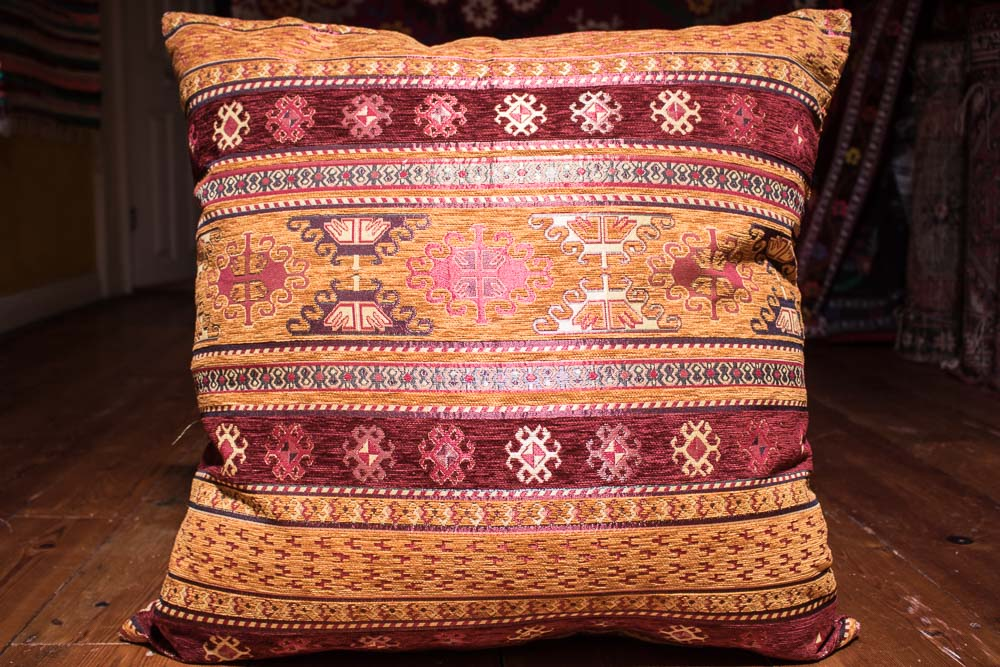 Medium Sand Stripe Ottoman Turkish Cushion Cover 68x68cm