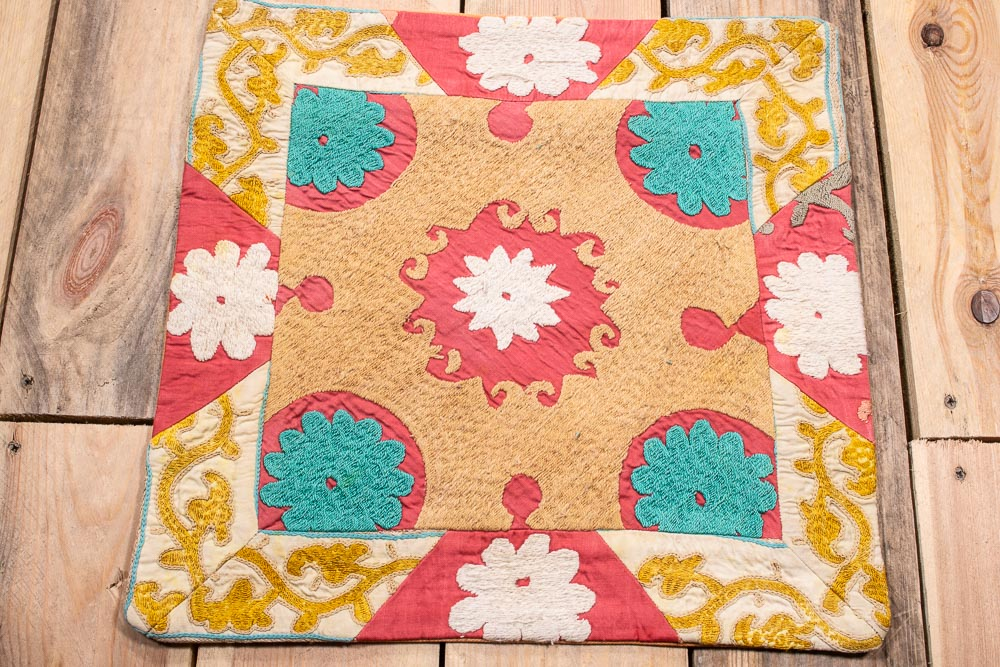 SC599 Patchwork Uzbek Suzani Cushion Cover 39x40cm