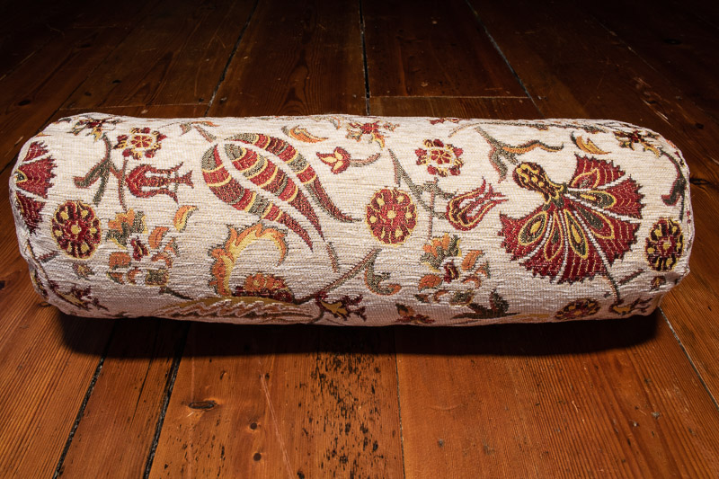 Small Cream Ottoman Turkish Bolster Cushion Cover 15x53cm