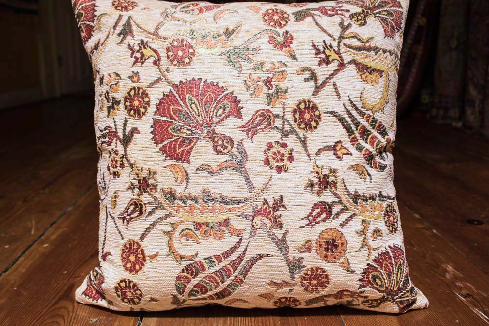 Small Cream Ottoman Turkish Cushion Cover 44x44cm