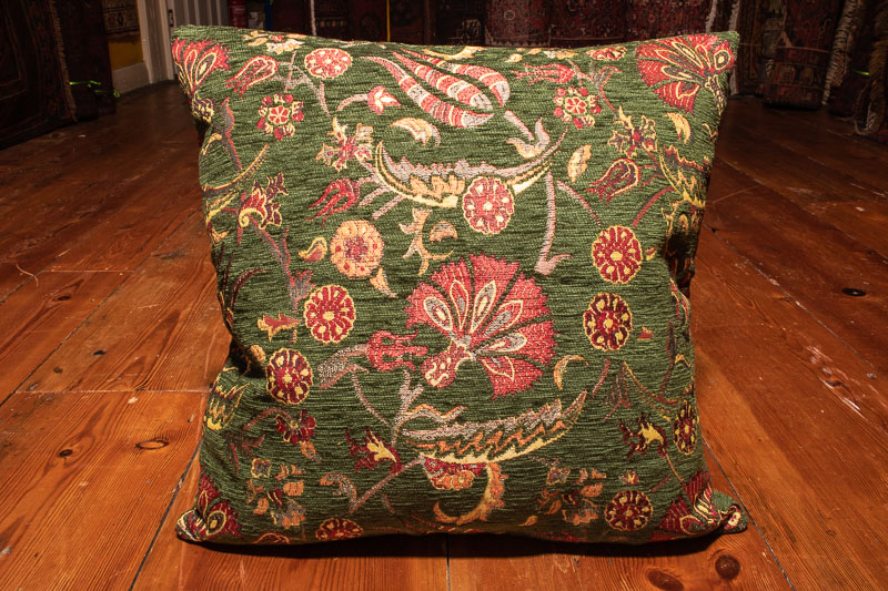 Small Green Ottoman Turkish Cushion Cover 44x44cm