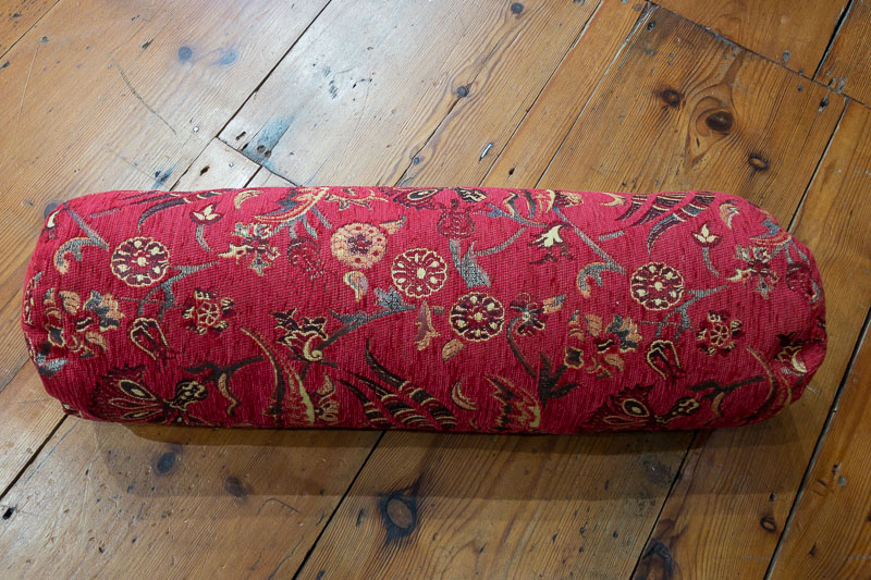 Small Red Ottoman Turkish Bolster Cushion Cover 15x53cm